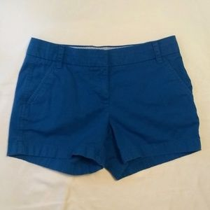 "J. Crew Chino Shorts Blue 4"" Inseam Size 2"